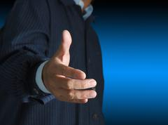 Stock Photo of offering for handshake