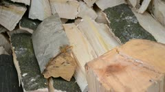 Wood chop Stock Footage