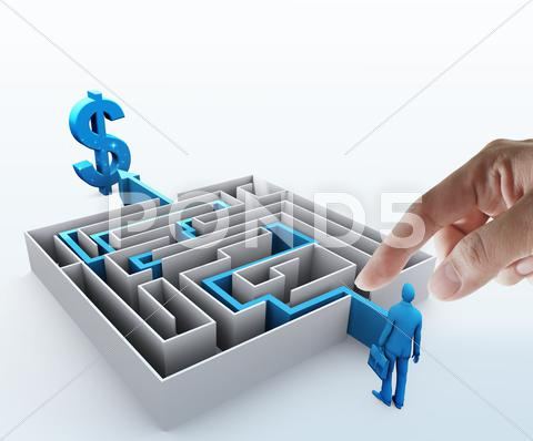 Stock Illustration of maze