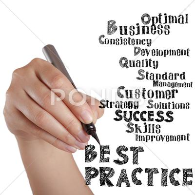 Stock Illustration of hand draw virtual best practice