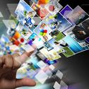 Stock Illustration of streaming images as internet concept