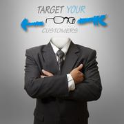 Stock Illustration of target your customers as concep