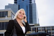 Stock Photo of beautiful businesswoman outdoors (1)