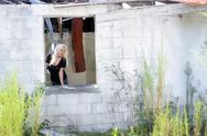 Stock Photo of beautiful blonde at an abandoned house (3)