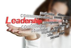3d leadership skill as concept Stock Illustration
