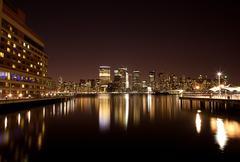 New york - Manhattanille yöllä Kuvituskuvat