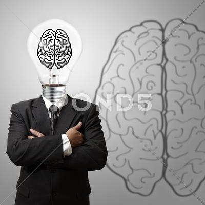 Stock Illustration of 3d pixel brain sign as concept