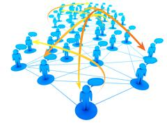 Stock Illustration of social network concept