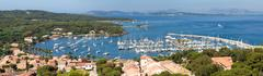 Panoramic view of porquerolles island in france Stock Photos