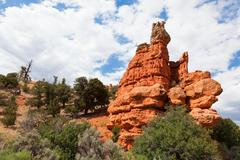 red rock canyon in utah - stock photo