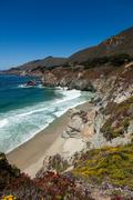 pacific coastline in california  - highway one - stock photo