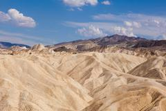 eroded ridges at zabriskie point, death valley national park, california - stock photo