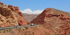 desertic landscape of utah in the usa - stock photo