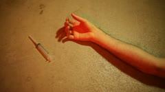 Overdose junkie drug use Stock Footage