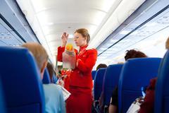 air hostess at work - stock photo