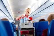 Air hostess at work Stock Photos