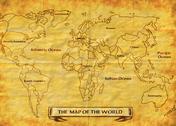 Map of the world grunge Stock Illustration