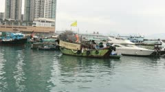Boats (Hong Kong Harbor) Stock Footage