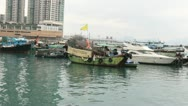 Stock Video Footage of Boats (Hong Kong Harbor)