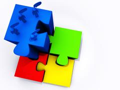Stock Illustration of success puzzles
