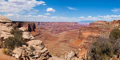 Panoramic view of canyonlands national park in utah Stock Photos