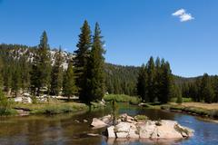 yosemite national park in california - stock photo