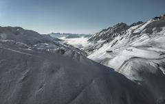 Stock Photo of Snowy Alps