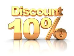 discount  10 percent - stock illustration