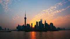 "Shanghai Sunrise Time Lapse(Zoom In).>>>Please Search: ""ShanghaiSkyline"" Stock Footage"