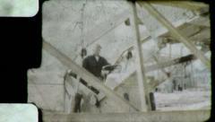 Bulldozer Operator CONSTRUCTION site 1950s (Vintage Film Home Movie) 4675 Stock Footage