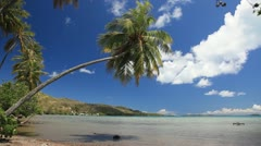 Bora Bora lagoon - stock footage
