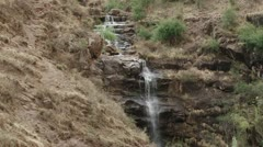 A waterfall in Lesotho Stock Footage