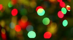 Blurred Christmas lights Stock Footage