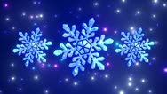 Stock Video Footage of Snowflakes.