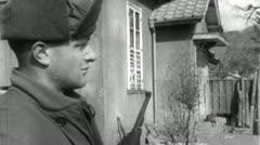 GI Sentry Guarding Korean War PRISONERS Vintage Military Movie Film Footage 4695 Stock Footage