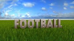 Football text animation Stock Footage