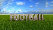Football text animation Stock Footage