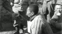 POWs Chinese Prisoners of War Korean 1950 (Vintage Film Footage) 4700 Stock Footage