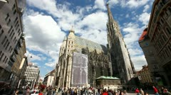 The Vienna Stephansdom - stock footage