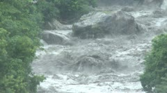 Raging River Flash Flood Water Stock Footage