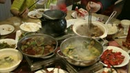Stock Video Footage of Chinese Restaurant Dinner