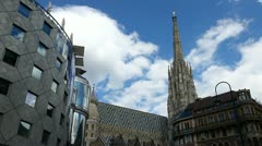 Time lapse of the Vienna Stephansdom - stock footage
