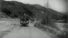 Troops Advance Korean War (Vintage Military News Film Footage) 4703 - stock footage