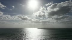 Stock Video Footage of Moody Sky above the wide great sea