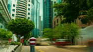 Stock Video Footage of Street traffic in Hong Kong, timelapse