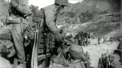 US SOLDIERS Troop Transport Korean War Frontline Vintage Military Film 4708 Stock Footage