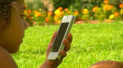 Talking on mobile 4 Stock Footage