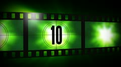 Film leader counter Stock Footage