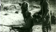 Stock Video Footage of Machine Gun Korean War (Vintage Military News Film Footage) 4709a