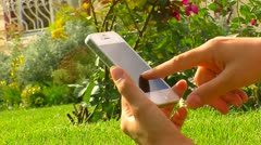Talking on mobile 5 Stock Footage